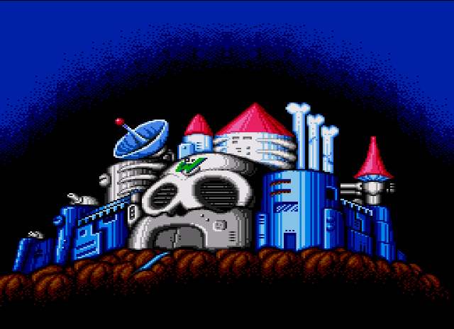Dr. Wily's Lair, Mega Man 2, Copyright Capcom Co., Ltd.